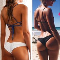 lycra calcinha quente venda por atacado-Recém Sexy Mulheres Biquíni Brasileiro Cheeky Boom Thong V Swimwear Maiô Calcinhas Briefs loja-Hot