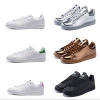 Wholesale winter upper - Adidas Stan Smith shoes men's women casual shoes Gold silver white pink Leather uppers Stan Smith skateboard shoes Size 36-44