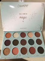 maquiagem de olhos mágicos venda por atacado-Transporte rápido 15 Cores Colourpop Tudo O Que Eu vejo é Paleta Da Sombra de Som Magia Glitte Matte Olhos Shimmer Maquiagem paletas de Natal quente