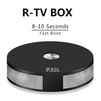 rs 3d großhandel-R-TV R10 Android 8.1 TV-Box RK3328 Quad Core 2GB 16GB 2.4G5G Wifi Bluetooth 4.1 Schneller Start USB3.0 H.265 HDR10 3D 4K iptv Media Player