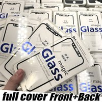 Wholesale Iphone Body Protector - For Iphone X Screen Protector Full Coverage Tempered Glass Film Edge For Apple X 8 7 6S Plus With Package