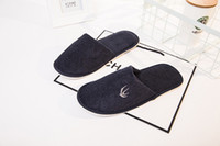 Wholesale Wholesale Hotel Plush Slippers - Resort Hotel Upscale Hotel Disposable Slippers Slip Comfort High Quality Indoor Cotton Slippers
