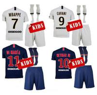 1ff1046098f 18 19 Paris maillots de foot enfants accueil mbappe maillot de foot 2019  psg CAVANI DI MARIA BUFFON survetement enfant uniformes de football jeunes  SETS