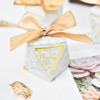 Wholesale bomboniere wedding favors resale online - European diamond shape Green leaves forest style Candy Boxes Wedding Favors Bomboniere thank you Gift Box Party Chocolate box