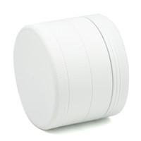 laque blanche achat en gros de-Moulin à herbes Mettle 63 MM Broyeur en alliage d'aluminium 4 couches de caoutchouc Laque Blanc Couleur Broyeur à épices