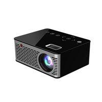 projecteur alimenté par usb achat en gros de-T200 Pocket LED Micro Projecteur, Touches tactiles HDMI USB AV Projecteur de jeu vidéo Support Beamer Banque d'alimentation externe