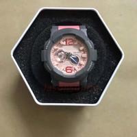 женские наручные часы оптовых-Водонепроницаемые женские наручные часы высшего качества Детские спортивные часы BGA180 Мировое время С коробкой Военный камуфляж Военные Цифровые часы