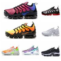 zapatos corrientes masculinos al por mayor-2019 Nuevo Chaussures TN Plus Ultra Silver Traderjoes Zapatillas Running Colorways Male Pack Sports Tns Zapatillas para hombre Air Designer Sneakers