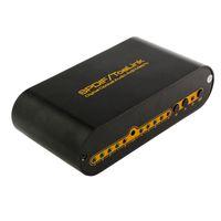 matriz remota venda por atacado-SPDIF TOSLINK Digital de Áudio Óptico True Matrix 4x2 Interruptor Switcher 4 Em 2 Out Video Converter Controle Remoto