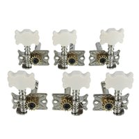klassische gitarrenmaschinen groihandel-6 stücke Klassische Gitarre Tuning Pegs Single Mechaniken Tuner Tasten String Musik Gummi Single Port Gitarre Teile Zubehör