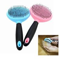 Wholesale tool sheds - 2 Colors Dog Cat Comb Shedding Tool Brush Comb Rake Pet Fur Grooming Quick Clean Hair AAA222