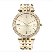 Wholesale Womens Gold Diamond Bracelet - luxury branded famous elegant designers ladies gold watches diamonds relogio feminino aaa quality steel strap bracelet watch for womens tops