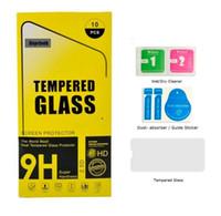 gelbes gehärtetes glas großhandel-Für iphone xs max 6,5 zoll xr gehärtetes glas für iphone x 8 7 displayschutzfolie 2.5d 9 h mit-gelb papierpaket
