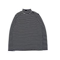siyah beyaz çizgili tişört kadın toptan satış-Streetwear Korku Tanrı T-Shirt Erkekler Kadınlar Siyah Beyaz Çizgili Zebra SIS Tişört Standı Yaka Korku Tanrı Baz Uzun Kollu T Gömlek