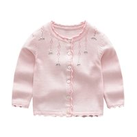 Wholesale best computer brands online - Best Deal Girl clothes little floral design cardigan sweater coat sets girl tops fall sweaters coat