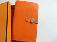soporte para teléfono móvil pasaporte al por mayor-HOT New Brand Cartera de lujo Bolso de mujer Pasaporte Titular Cuero genuino Teléfono celular Monedero Monedero moda mujer H diseñador Cartera