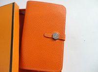 Wholesale brown long handbag resale online - HOT New Brand Luxury Wallet Women s Handbag Passport Holder Genuine Leather Cell Phone Wallet Purse fashion women H designer Wallet