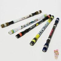 stiftspinnerei großhandel-NEUE Cool Spinning Pen Rotierenden Gaming Kugelschreiber Blaue Tinte Refill Matting Finger Spielen Rutschfeste Beschichtung Spin Rolling