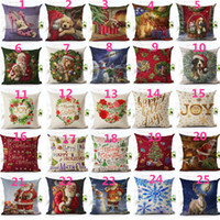 Wholesale decorative dogs for sale - Group buy Square Merry Christmas Santa Claus Dog Letter Cushion Cover Ambience Square Decorative Throw Pillow Case Sofa Home Decor almofadas