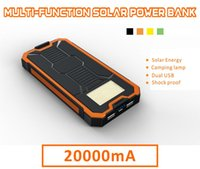 Wholesale sharp panels online - mAh Portable Solar Panel Power Bank Dual USB Output SOS Help Camping Light Charge for Mobile Phone Tablet Retail Box