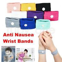 Wholesale band cuff - Anti nausea Wrist Support Sports cuffs Safety Wristbands Carsickness Seasick Anti Motion Sickness Motion Sick Wrist Bands GGA527 200PCS