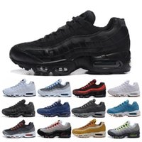 Wholesale blue zip up - 20th Anniversary MID Shoe 95s Sneakerboot 95 black white Army Boots Men Autumn Winter air cushion ankle Sealed-zip Running Shoes 36-45