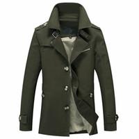 askeri tarz kış ceket erkek toptan satış-Bolubao Yeni Erkekler Kış Ceket Moda İngiliz Tarzı Marka Giyim Rüzgarlık Sıcak Ceket Ceket Askeri Erkek Jaqueta Masculino S1015