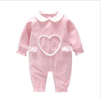 Wholesale sold love dolls for sale - romper Hot selling autumn winter new arrivals baby kids long sleeve cute white doll collar high quality velvet love Lace romper color