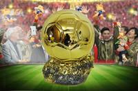 Wholesale football trophy resale online - Resin Soccer Trophy World Ballon D OR Mr Football trophy Best Player Awards Golden ball Soccer for souvenir or gift