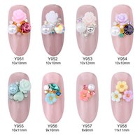 Wholesale 3d rose nail art - 50pcs Rose flowers alloy 3d nail art jewelry nails crystal rhinestones nailart nails decorations new design accessories Y951~958