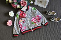 çiçek kız eşofman toptan satış-Moda Eşofman KıyafetleriMikrdoo 2017 Bebek Sonbahar Çiçek Elbise Set Çocuk Boy Kız Uzun Kollu Üst Çiçekler Pantolon 2 Adet Suits