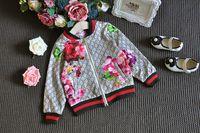 blumenmädchen trainingsanzug großhandel-Mode Trainingsanzug OutfitsMikrdoo 2017 Baby Herbst Blumenkleidung Set Kinder Jungen Mädchen Langarm Top Blumen Hosen 2 Stücke Anzüge