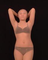 телесный комбинезон оптовых-Flesh Skin Lycra Spandex Silk Zentai Suit Cosplay Bodysuit COS Costume Fancy Dress