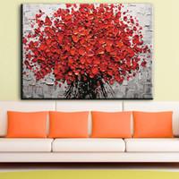 yağlıboya çerçeveleri toptan satış-Soyut Çiçek Yağlıboya Tuval Üzerine Modern Yatak Odası Oturma Odası Çiçek Duvar Sanatı Resimleri Ev Dekorasyonu Yok Çerçeve