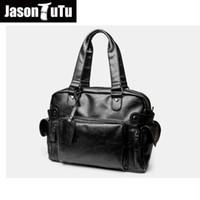 large tutus 2018 - JASON TUTU men messenger bags high quality soft pu leather hand bags large capacity travel Men bolsos Free shipping B182