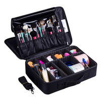 Wholesale professional makeup bags cases for sale - Group buy Professional Women Makeup Bag Cosmetic Case Lady Quality Oxford Female Korean Make Up Box Large Capacity Makeup Organization Hot