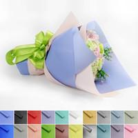 farbe kunststoff papier groihandel-Florist Einwickelpapier Fest Farbe Blumenverpackungspapier Kunststoff Blumenstrauß Floristenbedarf Geschenkpapier