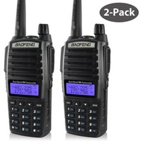 mini walkie talkie baofeng toptan satış-2 ADET Baofeng UV-82 walkie talkie avcılık için 5 W çift bant iki yönlü radyo 10 M CB amatör radyo