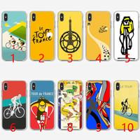 se bikes оптовых-Тур де Франс велосипед Мягкий силиконовый чехол для телефона ТПУ для iPhone 5 5S SE 6 6S 7 8 Plus X XR XS Max Cover