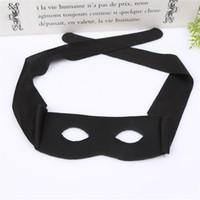 máscaras de meio olho venda por atacado-Zorro Masquerade Máscara New Adulto Criança Metade do Rosto Máscaras de Olho Cosplay Prop Festa de Halloween Suprimentos Preto 1 7ly C