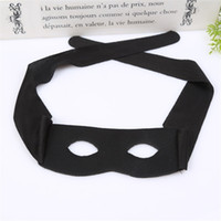 mascaras de zorro negro al por mayor-Zorro Masquerade Mask New Adult Child Half Face Máscaras de ojos Cosplay Prop Halloween Party Supplies Negro 1 7ly C