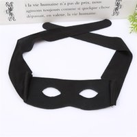 maskeli çocuklar maskeli toptan satış-Zorro Masquerade Maske Yeni Yetişkin Çocuk Yarım Yüz Göz Maskeleri Cosplay Prop Cadılar Bayramı Parti Malzemeleri Siyah 1 7ly C