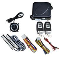 sistemas de arranque de alarma de coche al por mayor-9 Unids SUV Coche Ingreso Sin Llave Motor de Alarma Sistema de Arranque Botón de Arranque Remoto Parada Auto Bloqueo de Puerta