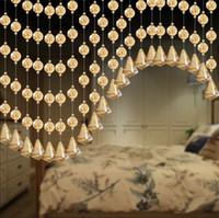 salon kristal dekorları toptan satış-Kristal Cam Boncuk Perde Oturma Odası Yatak Odası Pencere Kapı Restoran Asılı Perdeler Düğün Malzemeleri Parti Ev Dekorasyonu 6 5mj bb