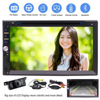 Wholesale wireless dvd player mp3 online - Free Wireless Camera Inch Double Din In Dash Touch Screen Car Stereo Receiver Bluetooth HD P car DVD Player AM FM Radio Microphone