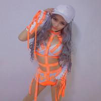 kızlar için caz kostümleri toptan satış-Kadınlar Bayanlar Moda Tasarım Dans Bodysuits Hiphop Dans Elbise Dans Kostüm Caz Kız Şarkıcı Sahne Performansı Giyim