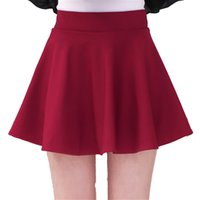Wholesale big ball sexy for sale - Japan Korea Puffy Skirts New fashion trend women cute sexy Red black Pleated Short Skirt High waist elastic band big size Ball Gown