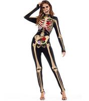 ingrosso vestiti di usura del partito delle donne-Struttura del corpo umano Stampa 3D Costume da sera per feste Tute Pantaloni skinny Uomo Donna Halloween Costumi Cosplay Imposta Abiti da cerimonia per feste