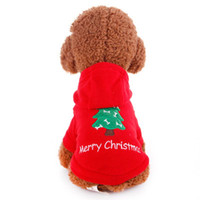 Wholesale dog pet sunglasses goggles online - Christmas Red Pet Dog Clothes Jumpsuit Dog hoodie Coat Jacket Clothing Cute Puppy Costume for Chihuahua Teddy Cat Puppy Hoodie