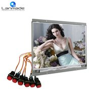 Wholesale button interface - 14inch button interface led signage color tv prices icon lcd tv advertising led display prices a good video player